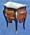 Marvelous marble top Louis XV style marquetry side com