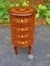 Gorgeous Dutch side cocktail table marquetry commode