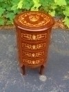Louis XV style side table commode chest of drawers