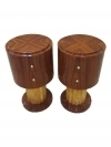 in 10 weeks Pair Art Deco style tables bedside commodes