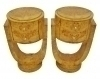 in 8 weeks Pair burl Elm Art Deco style side commodes