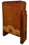 BEST Art deco style cabinet bookcase bar