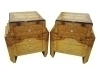 In 8 weeks BEST Pair Art Deco style olive wood commodes