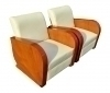 Magnificent Quality Art Deco inspired Pair of Armchairs