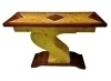 Superb Art deco forms S console geometric lines