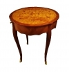 Victorian style walnut marquetry side center table