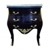 Classy Louis style Black white marble top commode