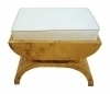 Superb Biedermeier style maple Vanity stool