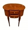 Sensational Pure Art Deco forms walnut side commode