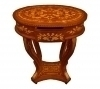 in 3 weeks dutch  style inlaid oval side table console