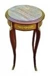 Elegant marble brass Louis XV style side tabl stand