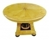 Star centered Biedermeier style table burl Maple wood