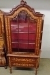 Outstanding Dutch marquetry Bookcase display cabinet