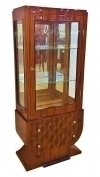 Splendid Cabinet Art Deco ROSEWOOD and Makassar Vitrine