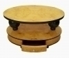 In 8 weeks SatinWood Art Deco style 2 tier coffee table
