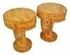 IN 8 WEEKS Pair side commodes cocktail tables burl