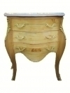 English Birch-wood marble top Victorian style commode
