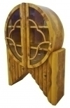 Great Forms Art Deco inspired bookcase olivewood