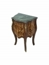 in 4 weeks Greeen marble top side table Louis XV style