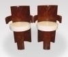 Best Pair of Art Deco Burl Walnut Armchairs