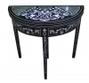 Stunning ebonized Biedermeier style card table
