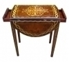 Most elegant Drop Leaf table Biedermeier style
