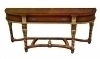 Huge carved walnut and gilt Biedermeier style Console