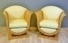 in 8 weeks Pair Art Deco Maple Arm Chairs Club Chairs