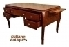 Spendid 64 inches Art Deco Style Desk burl walnut