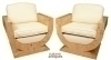 in 8 weeks Best Quality Pair burled maple Armchairs