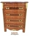 in 10 weeks Dark walnut bedside chest Art Deco style