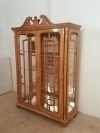 IN 10 WEEKS Superbly carved large Federal curio cabinet