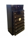10 weeks Art Deco Chest Drawers Cabinet Tall Boy black