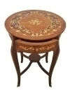 LOUIS XV MODE MARQUETRY ROUND INLAID SIDE TABLE