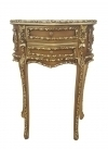 Magnificent Louis XV GOLDEN carved side table commode