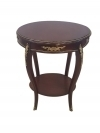 Spectacular DARK WALNUT Louis XV CENTER SIDE TABLE