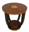 Amazing round Rosewood Art Deco style side table