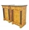 Elegant Pair black marble topl Biedermeier commodes