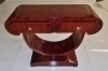 Elegant Art Deco console olive and rosewood.