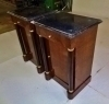 Superb pair Biedermeier Dark walnut commodes marble top
