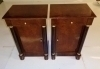 Marvelous pair Biedermeier style walnut commodes