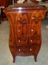 Dark burl walnut chiffonier chest Art Deco style