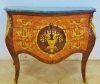 Stunningly ornate 48 inch Louis XV marble top Commode