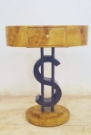 Unique dollars forms Art deco style coffee side table