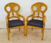 IN 12 WEEKS PAIR SPLENDID BIEDERMEIER ARMCHAIRS