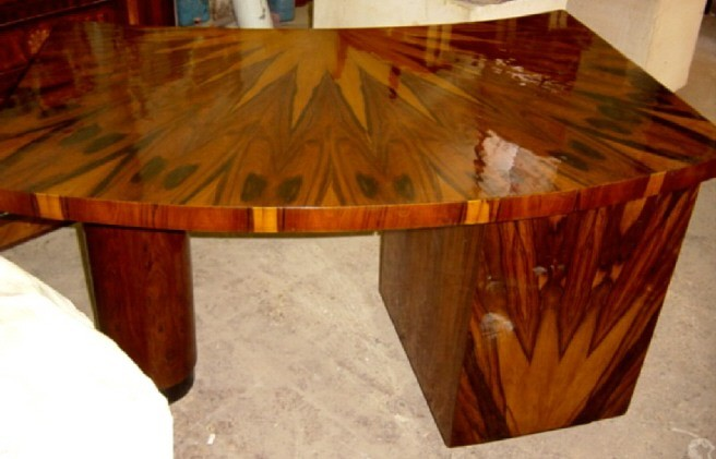 UNIQUE  forms Large italian Art-Deco style Desk