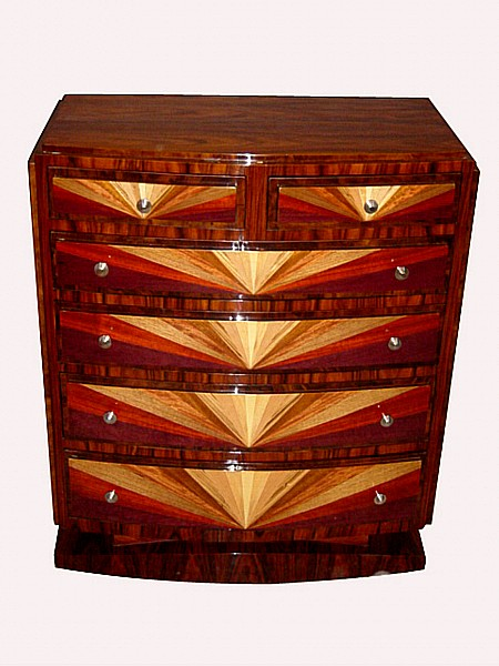IN10 WEEKS SPLENDOR in Art Deco style Chest of drawers