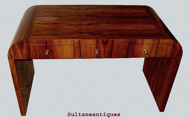 KILLER!!! Shaped Art Deco Rosewood Lady's desk.